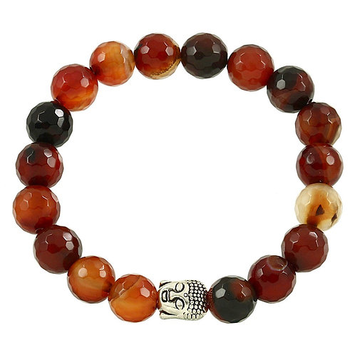Beaded Buddha Bracelet - Brown