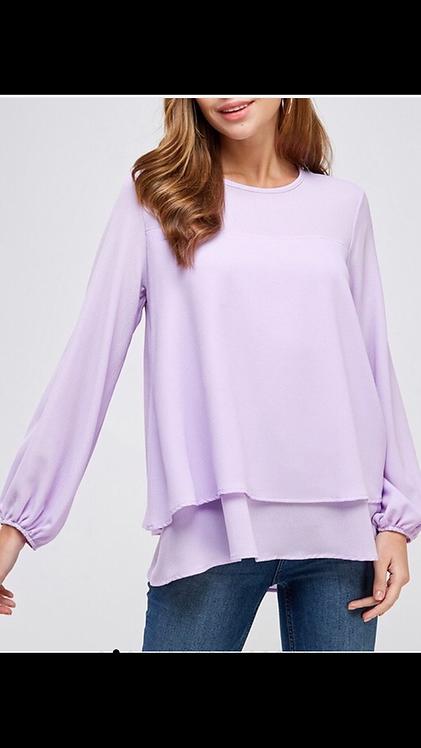 Lilac Layered Blouse