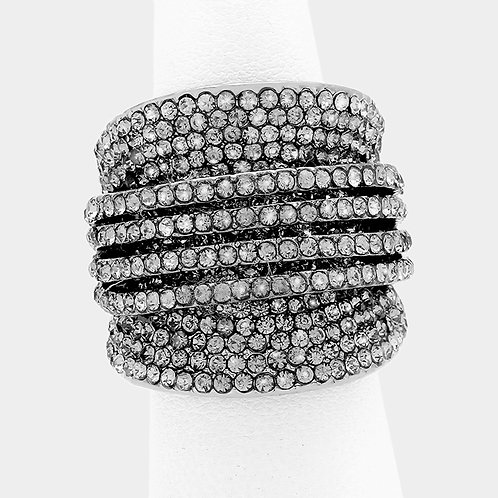 Layered Cluster Ring - Gunmetal