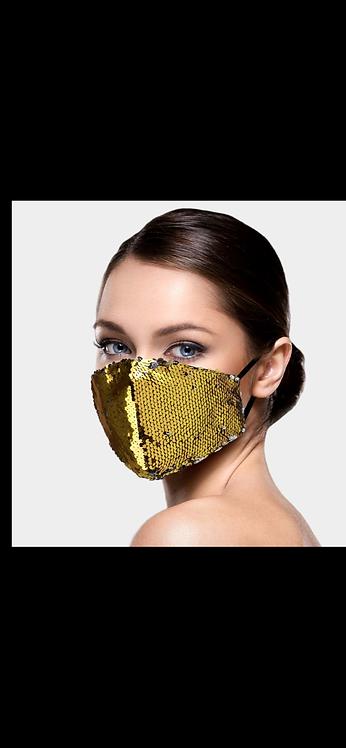 Gold / Black / Silver Super Sequin Mask