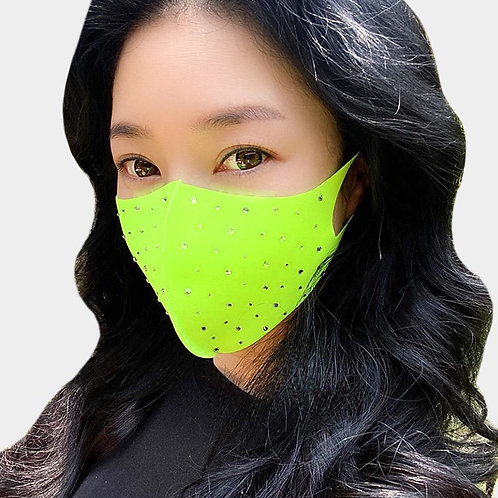 Bling Face Mask - Neon Green