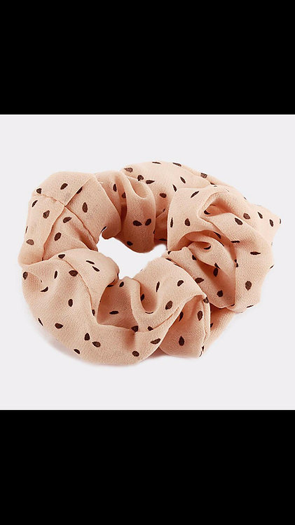 Polka Dot Scrunchie - Blush