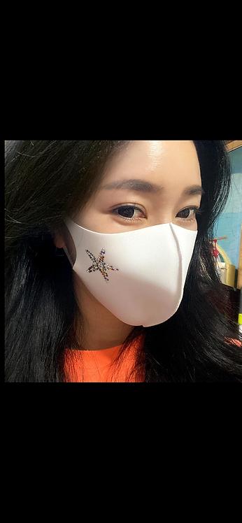 Bling Starfish Mask - White