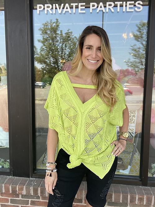 Neon Green Summer Sweater