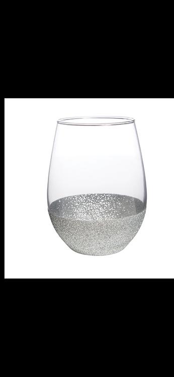 Stemless Wine Glass - Silver
