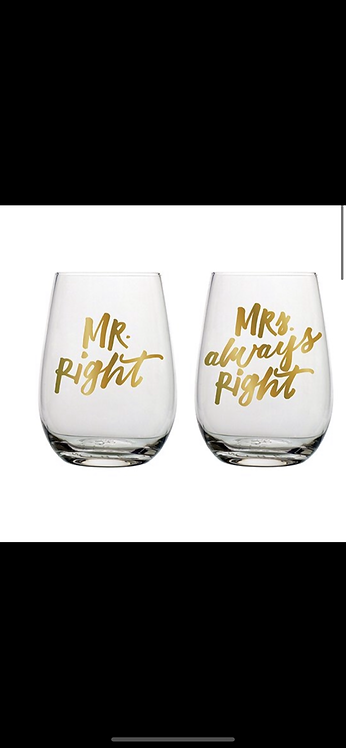 Mr. Right / Mrs. Always Right Set