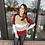 Thumbnail: Wine Colorblock Light Sweater