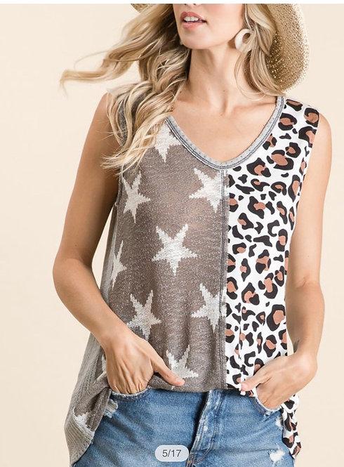Leopard Star Sleeveless