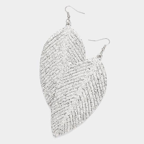 Feather Sparkle Dangle - Silver