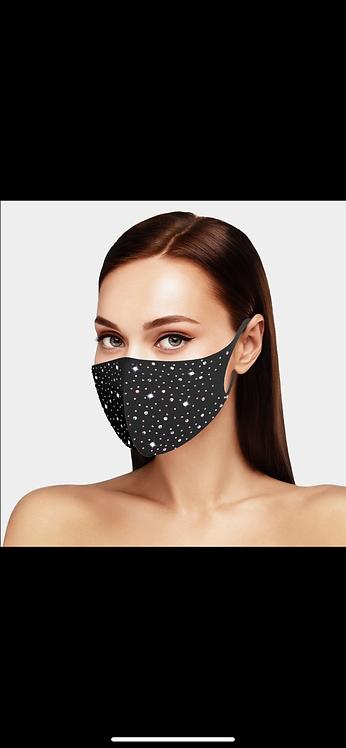 Bling Face Mask - Black AB