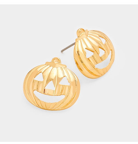 Pumpkin Stud Earring - Gold