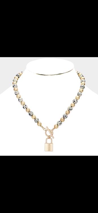 Beaded Lock Necklace