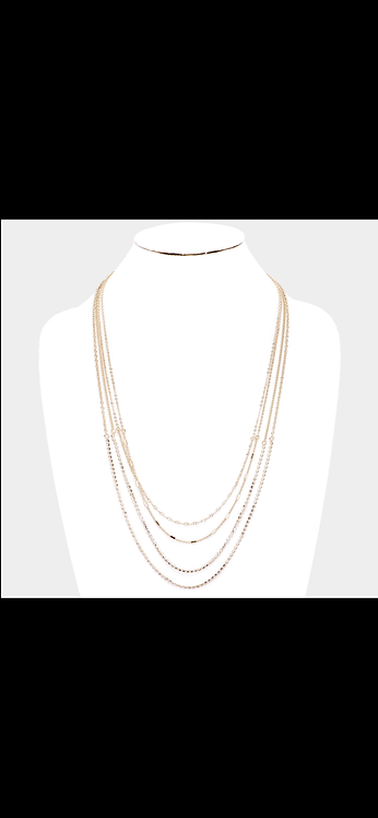 Layered Bling Necklace - Gold