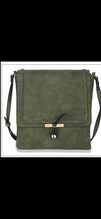 Olive Front Flap Messenger