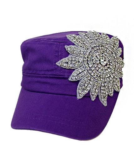 Sunburst Bling Hat - Purple