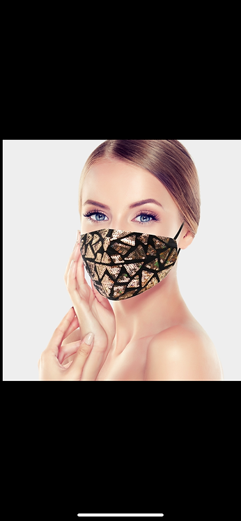 Triangle Sequin Mask - Rose Gold