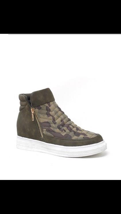 Camo Wedge Sneaker