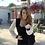 Thumbnail: Lace Sleeve Cardigan - Black