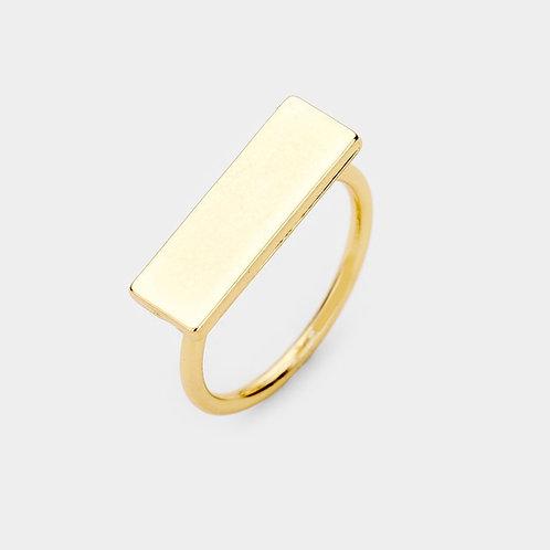 Metal Bar Ring - Gold