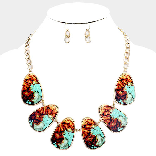 Blue and Bronze Ombré Necklace