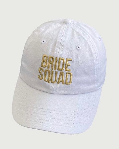 Bride Squad Baseball Hat - Gold