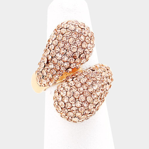 Rose Gold Cluster Stretch Ring