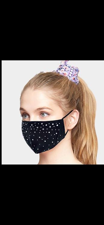 Bling Adjustable Mask -  Black