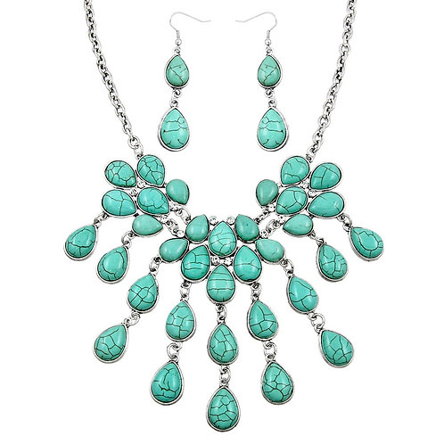 Turquoise Large Statement Necklace
