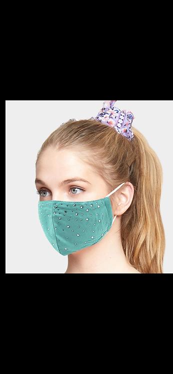 Bling Adjustable Mask - Teal