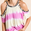 Thumbnail: Tie Dye Leopard Trim Cold Shoulder