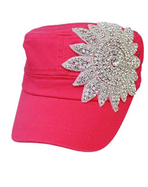 Sunburst Bling Hat - Fuchsia
