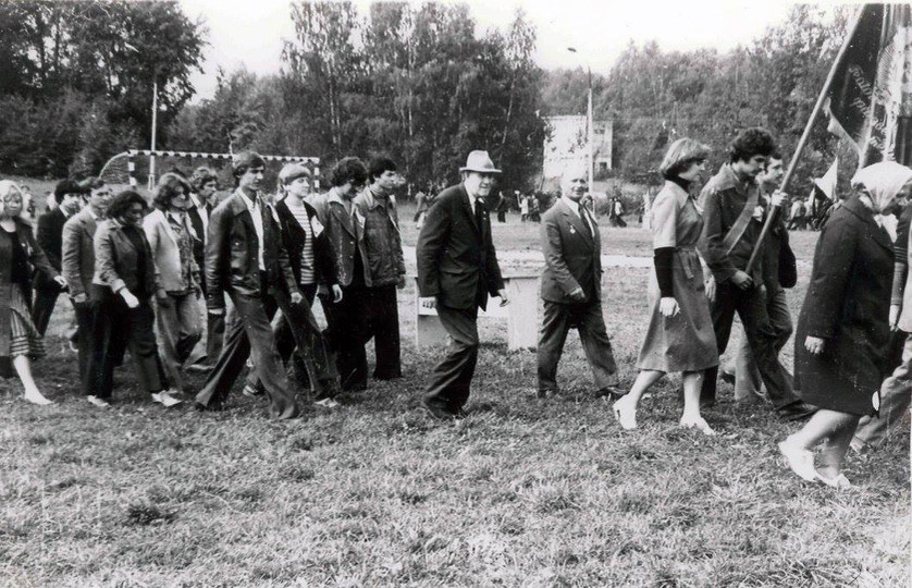 Загорский полигон. Посвящение в студенты. 1 курс ГРФ. 1978 г.