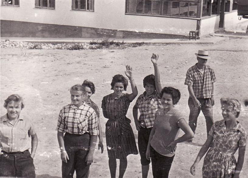 1962 г. Лагерь в . Конец Крымской практики