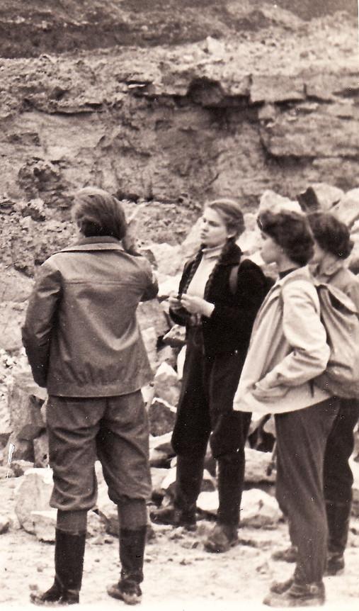 Весна 1961 г. геологическая экскурсия в