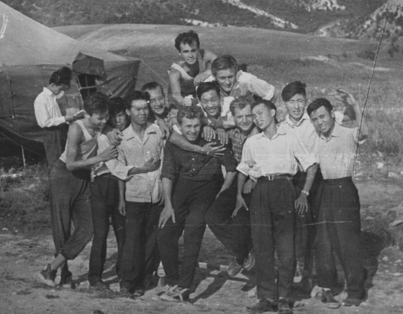 1962 г. Партизанское. Палаточный лагерь.