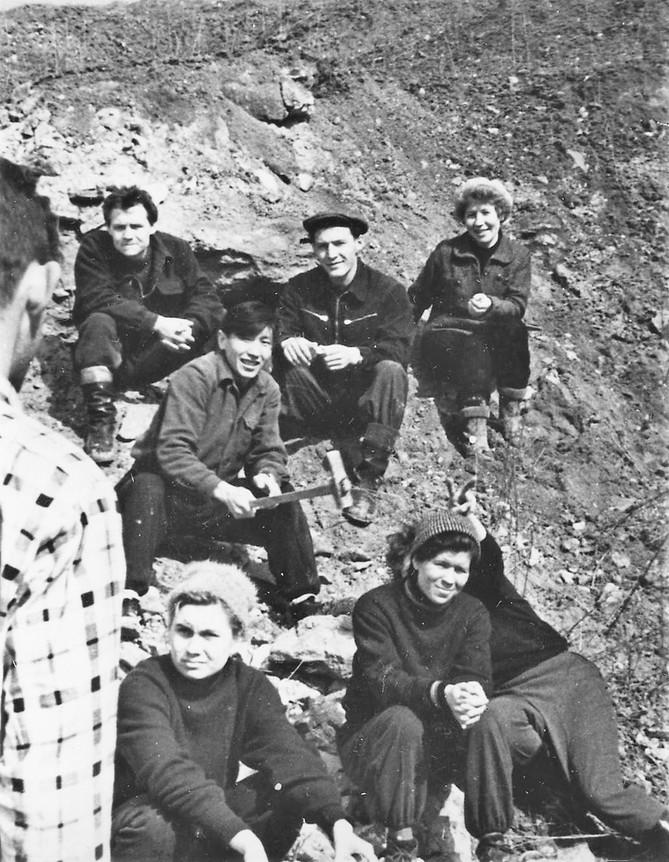1962 г. Подмосковные экскурсии МГРИ ,  1