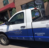 Part delivery truck full wrap with logos