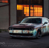 patina rusted style full wrap on dodge hellcat