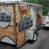 Construction Trailer Wrap on Tow Truck and transport trailer