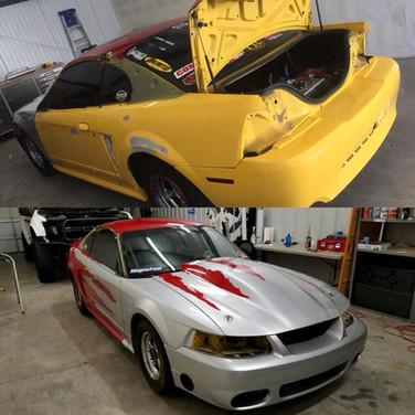 bandimere ford mustang drag car custom graphics