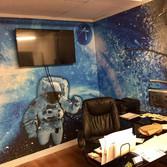 interior office room wall wrap
