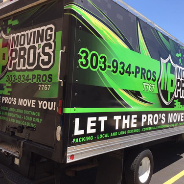 Moving Company Box Truck graphics on Penskey and Uhaul style truck