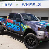 F150 Tire company advertising and informative vinyl wrap Wyoming
