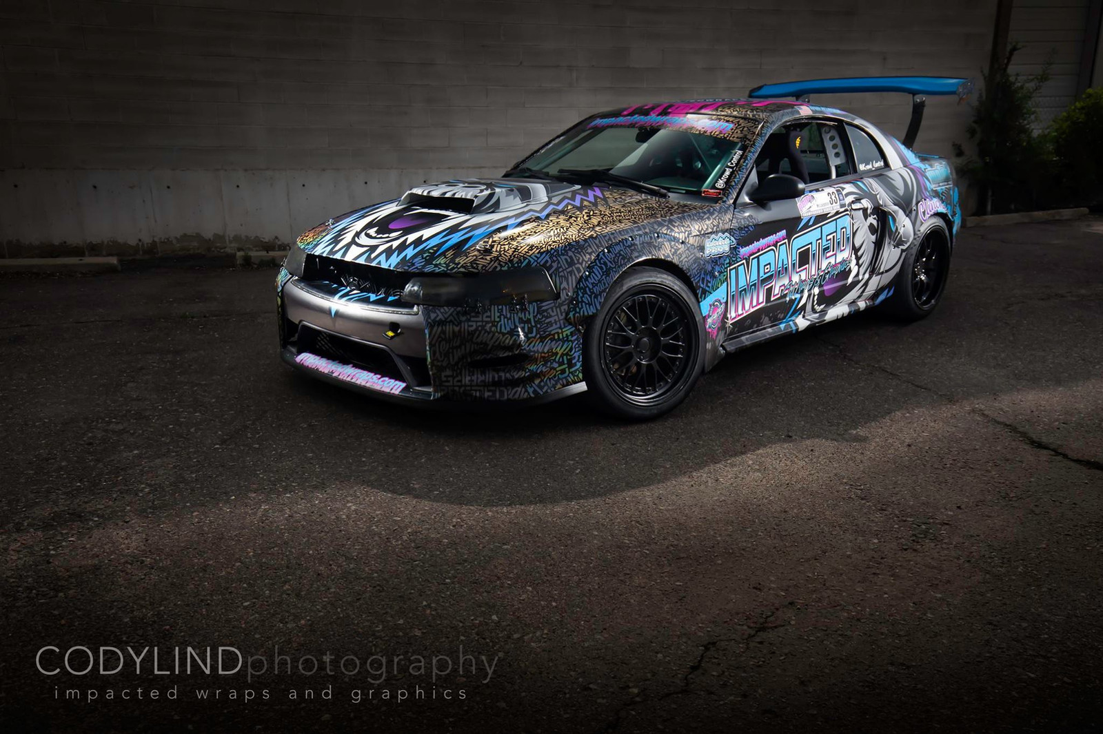 race car graphics with custom livery