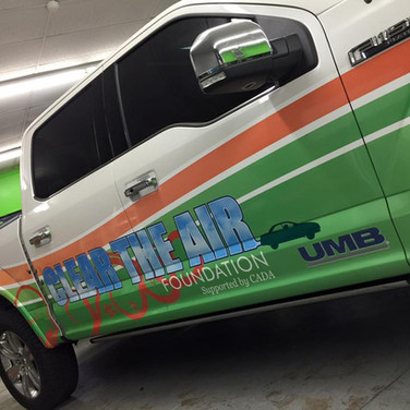 Clear the Air Colorado Foundation f150 partial wrap