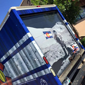Clothing Brand Box Truck Full Wrap with Creative logos and graphics