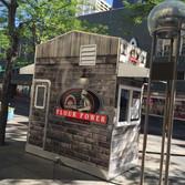food kiosk logo and wrap