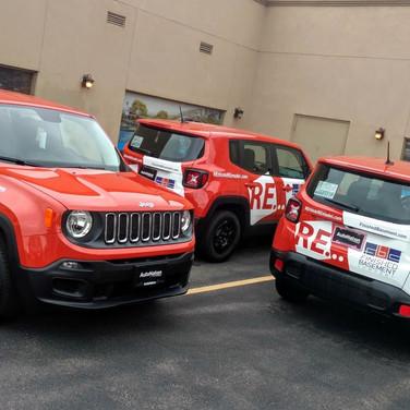 Interior Design Fleet Vehicle spot graphics on multiple Jeeps