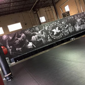 large wall design banner for gym