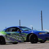 drift car race livery with company fleet logos